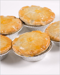 Pies with meat