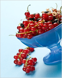 currants on a plate