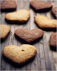 печенье в форме сердца