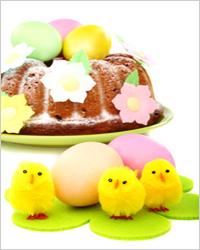 пасхальные яйца с куличом