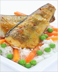 рыба с рисом в мультиварке