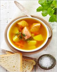 суп с рыбой в мультиварке