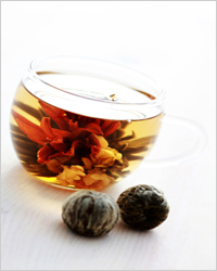 чай в виде цветка