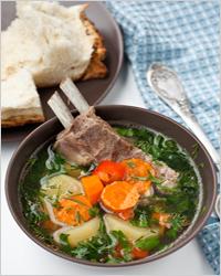 мясной суп с ребрышками