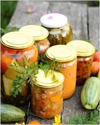 заготовки овощей на зиму