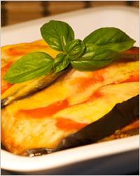 Баклажаны со сметаной и сыром