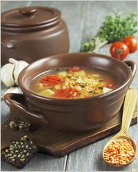 Блюда русской кухни, суп из чечевицы
