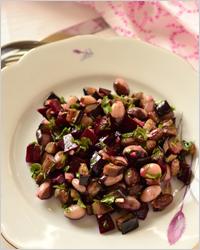 салат из баклажанов с фасолью