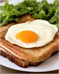 Блюда французской кухни - сэндвич крок-мадам