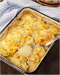 Блюда французской кухни - картофель со сливками