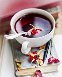 чай с ягодами шиповника
