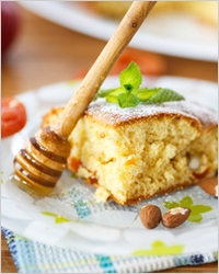 What quickly bake for tea - Cake with caramel