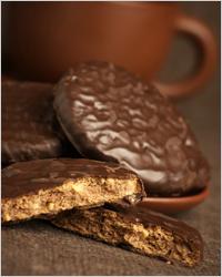 Печенье в шоколаде к чаю
