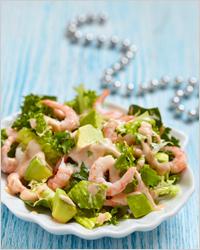 Салат с креветками - Что приготовить на новый год