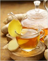 Чаепитие, чай с имбирем