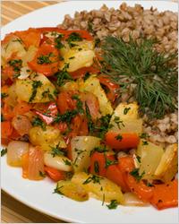 Каша гречневая с овощами - Диетические блюда