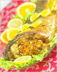 Печеная рыба - Диетические блюда