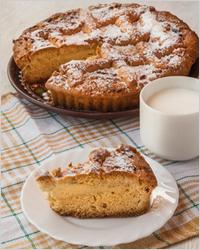 Пирог на кефире с сахарной пудрой