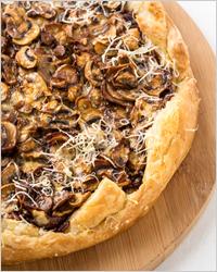 Пирог на кефире с грибами