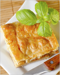 Пирог с курицей на кефире