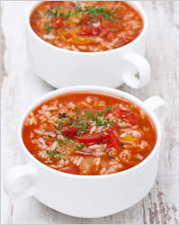 Soup with tomatoes and rice - Simple recipes for each day