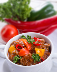Goulash with beef