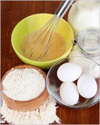 Ингредиенты для теста на кефире