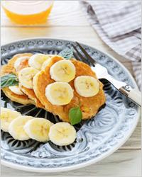 Банановые оладьи - Оладьи на кефире