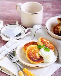 Оладьи на завтрак - Оладьи на кефире