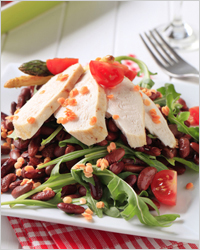 Салат с куриным филе и фасолью - Что приготовить из куриного филе