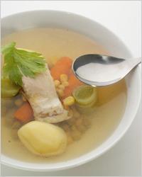 Суп из рыбных консервов с горошком
