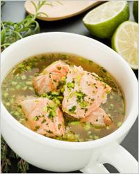 Пшенный суп из рыбных консервов