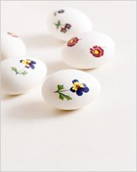 Пасхальные яйца, украшенные в стиле декупаж