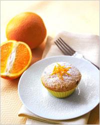 Кексы с апельсиновой цедрой