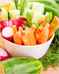 Овощи - Диета для похудения живота