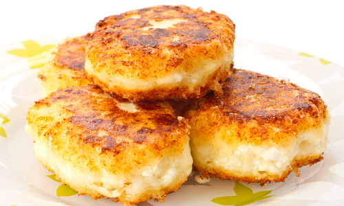 Fritters of cottage cheese - Quick recipes for each day