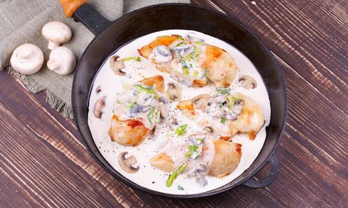 курица со сметаной на сковороде пошаговый рецепт