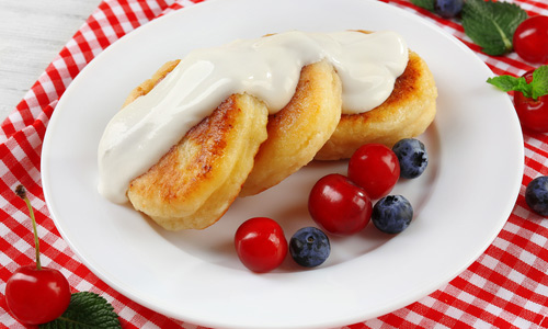 Творожники со сметаной - Завтрак для детей