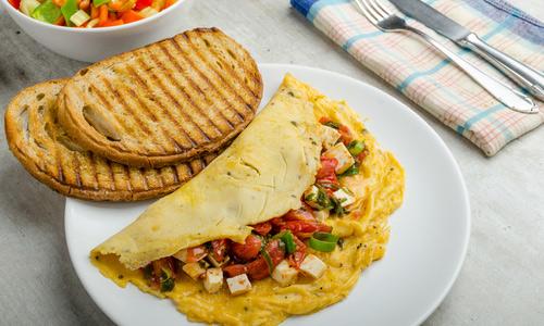 Омлет с овощами - Завтрак для детей