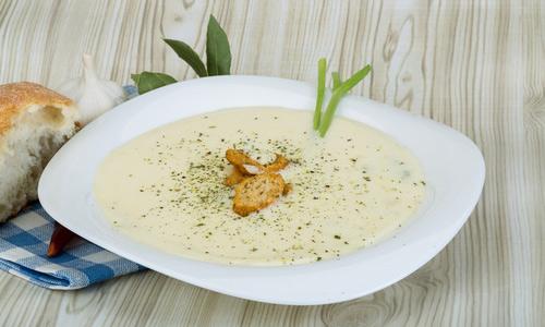 Сырный суп с плавленным сыром и кукурузой