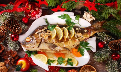 Новогоднее украшение вторых блюд