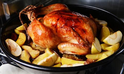 Деревенская курица в духовке