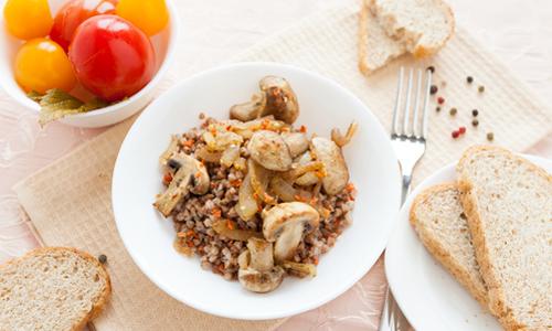 гречка с луком и грибами в мультиварке рецепты
