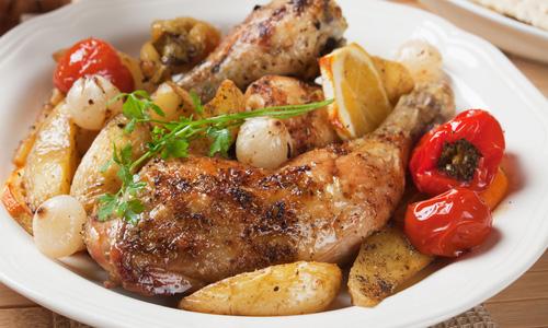 Запеченная курица в мультиварке рецепты с картошкой в духовке 8