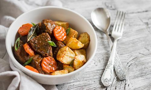 Картошка с мясом и овощами