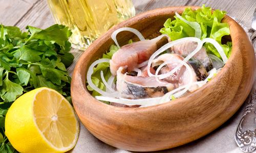 As salt herring at home