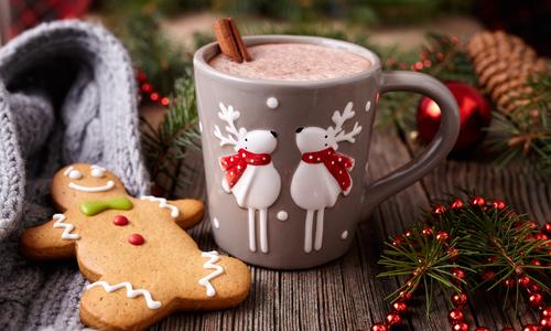 Новогодние пряники с какао