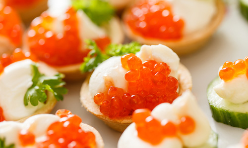 Закуски из красной икрой рецепты с фото