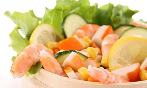 салаты постные с креветками рецепты с