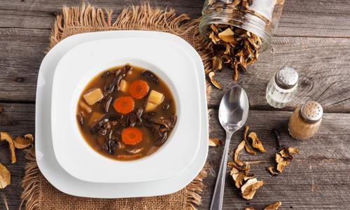 Супы из сухих грибов